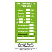 Gasthermen - Wartungsaufkleber / Kesselaufkleber