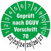 Prüfetiketten geprüft nach DGUV Vorschrift 70 Prüfplaketten 2022-27