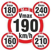 Geschwindigkeitsaufkleber km/h Aufkleber Reifen Winterreifen