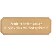 Gravurplatte Bronze Gravurschild für Pokale mit Gravur nach Wunsch