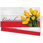 Gutschein Geschenkgutschein Vordruck Motiv Tulpe mit Umschlag