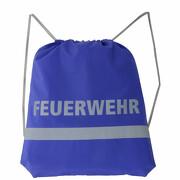 Gymbag Rucksack Feuerwehr Turnbeutel Tasche blau reflektierend