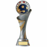 Handball FG Pokal Trophäe mit Emblem 70 mm 3 Größen massiv
