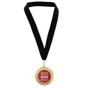 Medaille Beste Mama der Welt in Etui mit schwarzem Medaillenband