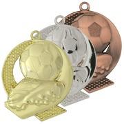 Medaille ELIN Fußball Motiv gold silber bronze 43 x 50 mm