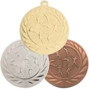 Medaille Leichtathletik aus Stahl gold silber bronze 50 mm