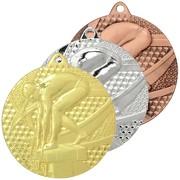Medaille Schwimmen 1 Medaillen rund gold silber bronze Set