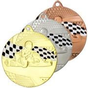 Medaille Kart Gokart Kart fahren Medaillen rund gold silber bronze Set