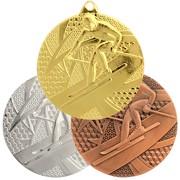 Medaille Ski Wintersport Abfahrt gold silber bronze 50 mm Stahl
