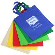 Non Woven Tasche Einkaufstasche mit langen Henkeln mit Druck einfarbig