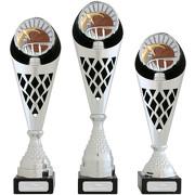 Pokal Basketball Serie VERDUN Trophäe silber groß mit Gravur