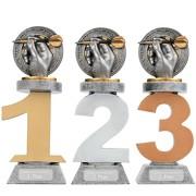 Pokal Dart Darts Serie VILLON Trophäe 3 Größen mit Gravur