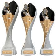 Pokal Federball Badminton Serie AUXON Trophäe 3 Größen mit Gravur