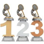 Pokal Federball Badminton Serie VILLON Trophäe 3 Größen mit Gravur