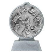 Pokal Hund Hundesport mit 3D Motiv Serie Ronny 10,5 cm hoch