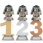Pokal Kampfsport Judo Karate Serie VILLON Trophäe 3 Größen mit Gravur