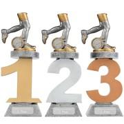 Pokal Laufen Laufsport Marathon Cross Serie VILLON Trophäe 3 Größen mit Gravur