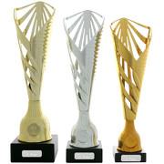Pokal Pokalset Bromberg gold silber bronze mit Gravurplatte und Gravur