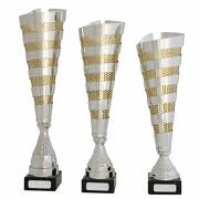 Pokal Pokalset CLUNY Metall silber gold 3 Größen mit Gravur