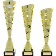 Pokal Pokalset MACON gold 3 Größen mit Gravur