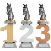 Pokal Reiten Pferde Serie VILLON Trophäe Reitsport 3 Größen mit Gravur