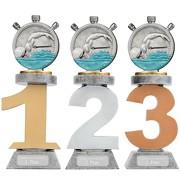 Pokal Schwimmen Schwimmsport Serie VILLON Trophäe 3 Größen mit Gravur