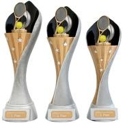 Pokal Tennis Serie AUXON Trophäe 3 Größen mit Gravur