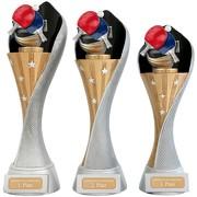 Pokal Tischtennis Serie AUXON Trophäe 3 Größen mit Gravur