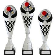 Pokal Tischtennis Serie VERDUN19 Trophäe silber groß mit Gravur
