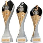 Pokal Zahl Platz 1 2 3 Serie AUXON Trophäe 3 Größen mit Gravur