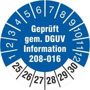 Prüfetiketten geprüft DGUV Information 208-016 Leitern und Tritte 2021