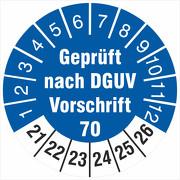Prüfetiketten geprüft DGUV Information Vorschrift 70 Fahrzeuge 2021-26