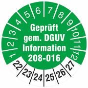 Prüfetiketten geprüft nach DGUV Information 208-016 Leitern und Tritte 2022-27