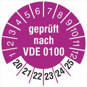 Prüfetiketten geprüft nach VDE 0100 2020-2025 18 30 mm Prüfplaketten