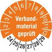 Prüfetiketten Verbandsmaterial geprüft 2020-2025 Prüfplaketten