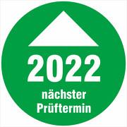 Prüfplaketten 2022 mit Pfeil Prüfetiketten nächster Prüftermin 18 oder 30mm