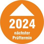 Prüfplakette 2020 mit Pfeil nächster Prüftermin Prüfetiketten 18 30 mm