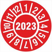 Prüfplakette 2023 Jahresprüfplakette Jahres Prüfetiketten 18 oder 30mm