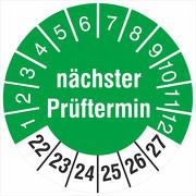 Prüfetiketten nächster Prüftermin 2022-2027 Prüfplakette 18 oder 30 mm