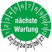 Prüfplaketten nächste Wartung Prüfetiketten 18 oder 30 mm 2022-2027