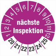 Prüfplaketten nächste Inspektion 18 oder 30 mm Prüfetiketten 2020-25