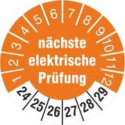 Prüfplaketten Prüfetiketten nächste elektrische Prüfung 2020-2025