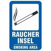 Schild Raucherinsel Smoking Area Raucherplatz 3 mm Aluverbund