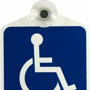 Schild Rollstuhl Rollstuhlfahrer Behindertentransport mit Saugnapf GREEN