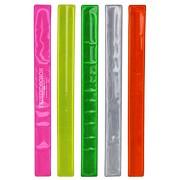 Schnapparmband BONDO Reflektor Schnappband in 5 Farben mit Druck