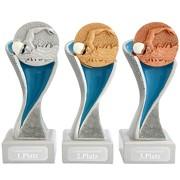 Schwimmen Pokal METZ gold, silber, bronze mit Gravurplatte und Gravur