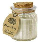 Soja Kerze Fresh Linen frische Bettwäsche Duftkerze Licht im Glas Sojawachs