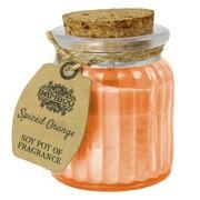 Soja weihnachtliche Orange Kerze Duftkerze Licht im Glas Sojawachs