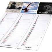 Streifenkalender Küchenkalender 2021 mit individuellem Druck 4-farbig