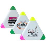 Textmarker Werbeartikel 3 Farben mit Druck Logo Werbung
